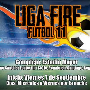 Liga Fire Fútbol 11 en el Estadio Mayor